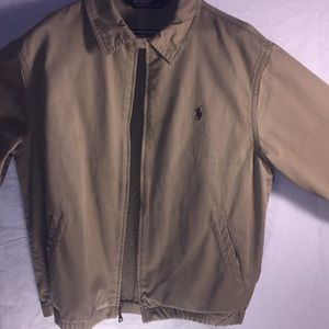 Polo Ralph Lauren men's tan zip jacket.